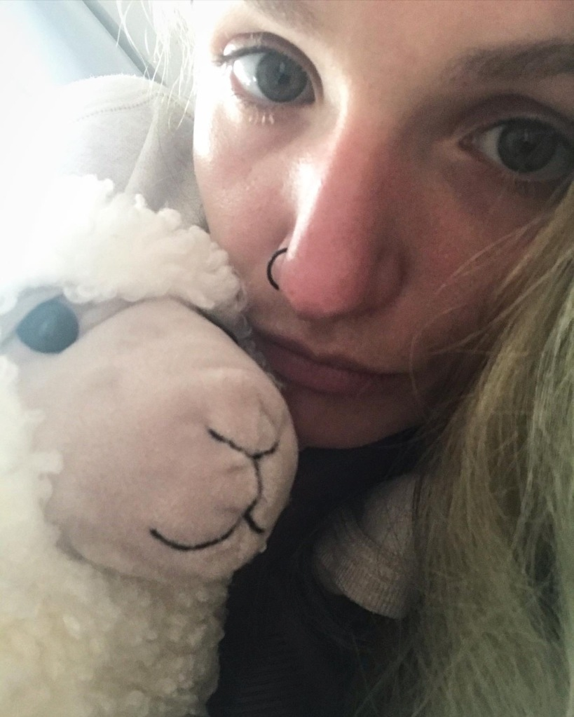 Difficult MH days = cuddles with Wool.iam. 🐏