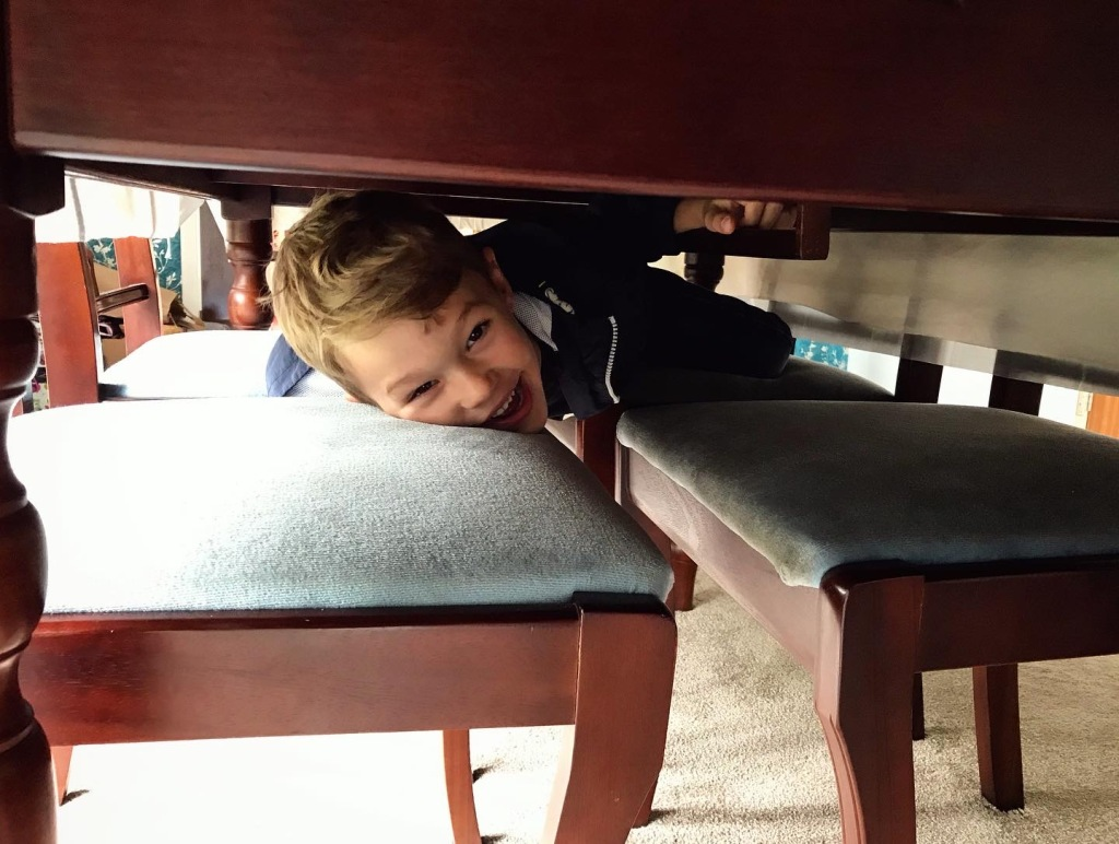 I found a small child under the table... 😂
